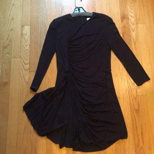 3.1 Phillip Lim black ruched dress